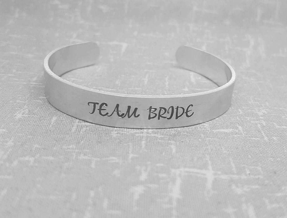 Team Bride Cuff Bracelet