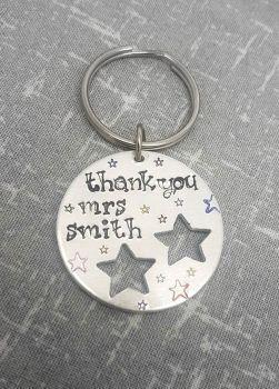 Thank You - Teacher Star Keyrings