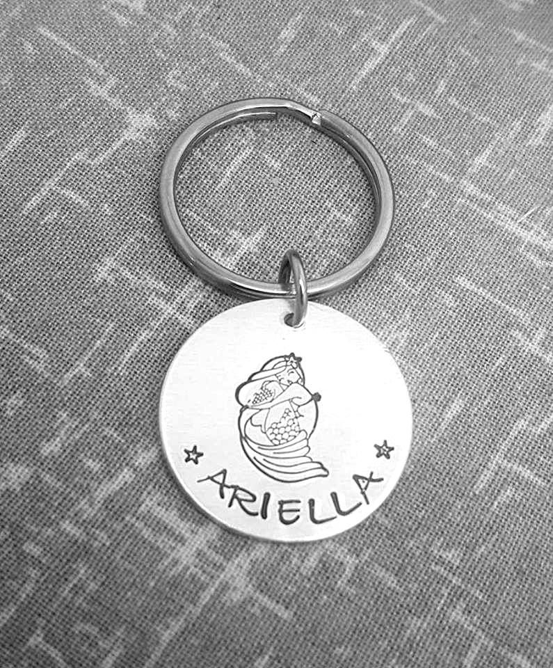Mermaid Name Keyring