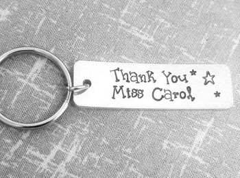 Thank You - Teacher Keyring (Stars)