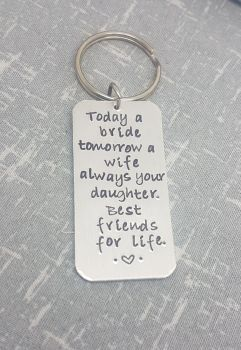Today a bride... best friends for life keyring