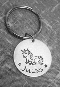 Unicorn Name Keyring