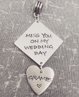 Bouquet Charm - Miss you on my wedding day