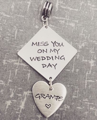 Bouquet Charm - Miss you on my wedding day INTRO OFFER