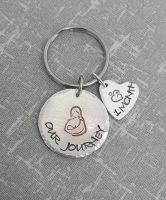 Extra Heart Charms for Breastfeeding Journey Keyring