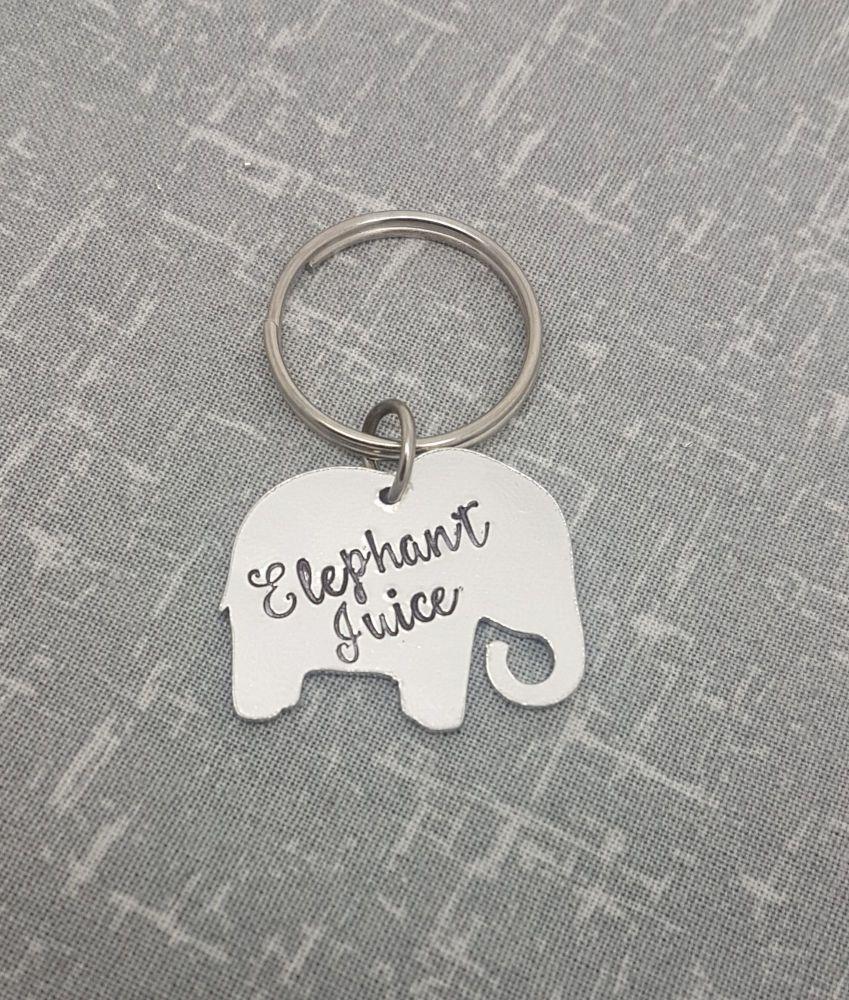 Elephant Juice Keyring - Elephant Shape
