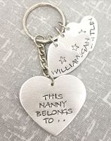 This .. Belong To.. (Heart with heart charms) Keyring