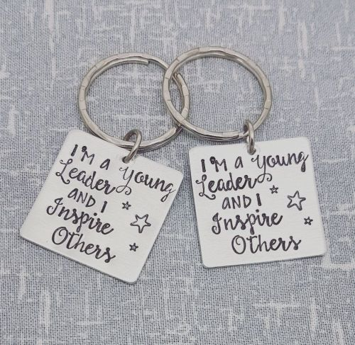 I'm a young leader and i inspire others - Keyring