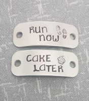 Run Now.. Cake Later - Trainer Tags