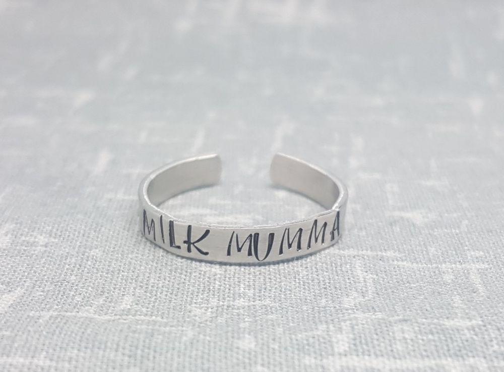 Milk Mumma - Thin band Ring