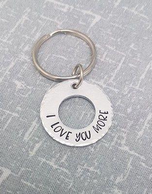 I Love You More Keyring