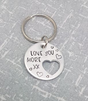 I Love You More xx Keyring