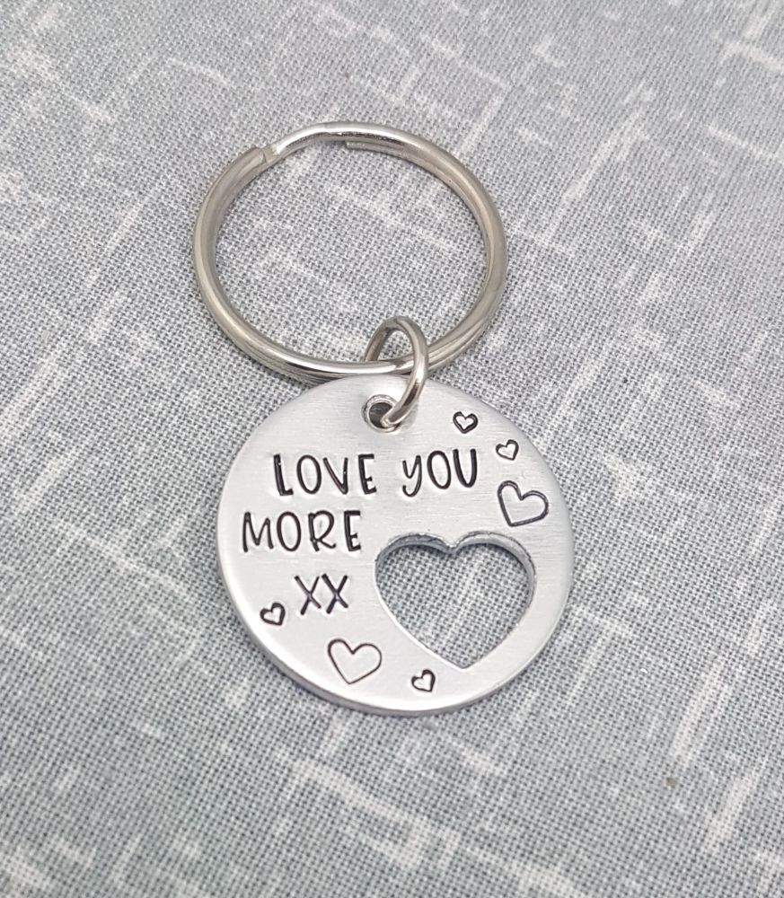I Love You More xx Keyring