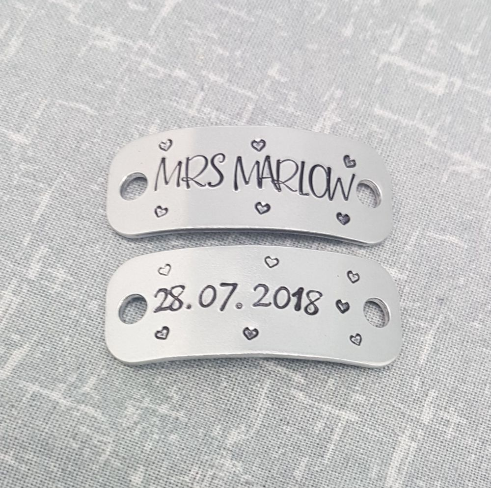 Mrs (name) & Date Trainer Tags  - Wedding Trainer Tags