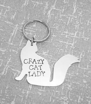 Crazy Cat Lady Keyring