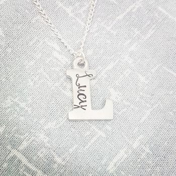 *OFFER* Pewter Letter Necklaces