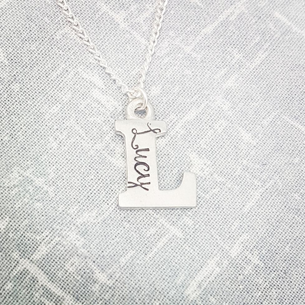 *TESTER* Pewter Letter Necklaces