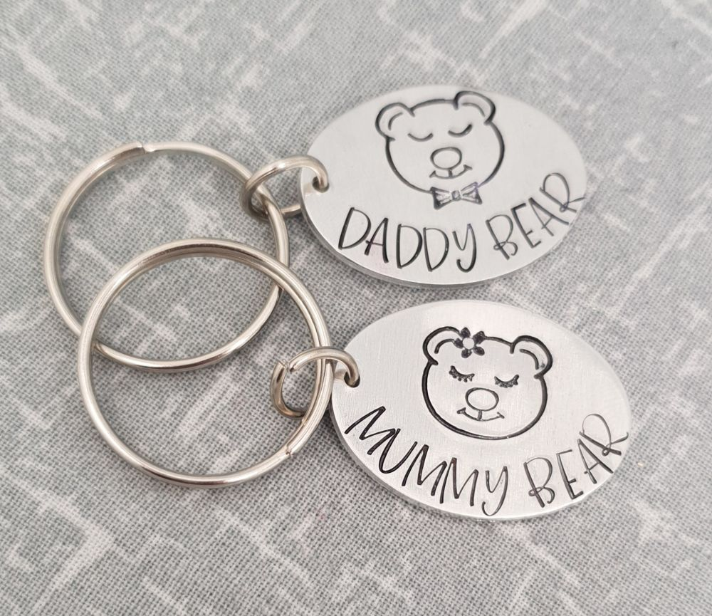 Bear Keyring - Choose your family member - Daddy Bear Keyring - Mummy Bear