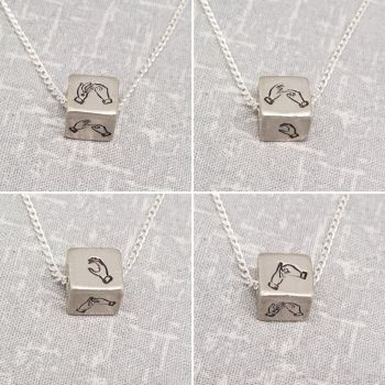 BSL Cube Necklace