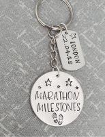 Marathon Milestone keyring