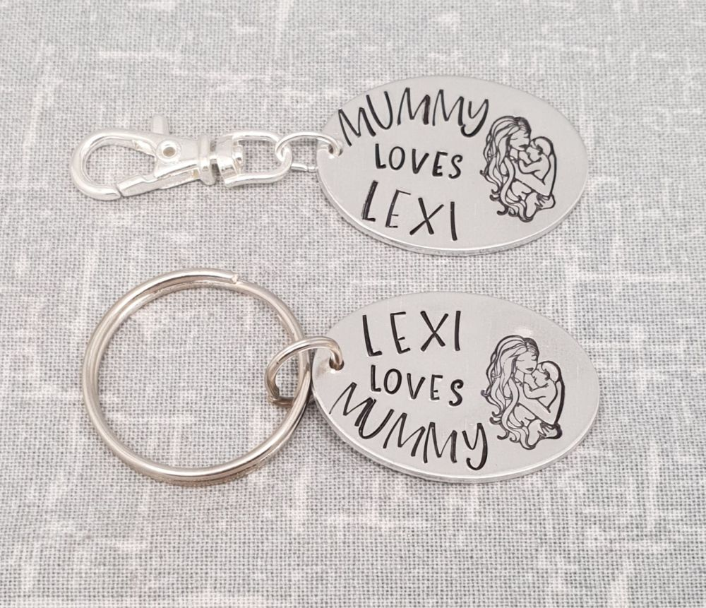 Mummy Loves - Matching Keyring and Bagtag