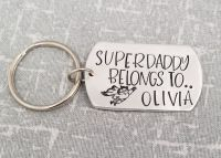 Superdaddy Belong To.. Keyring