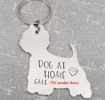 Dog At Home - Keyring - 30+ breeds available to order!
