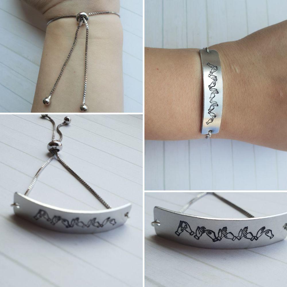 BSL Name Adjustable Bracelet **INTRO OFFER - 30% off!**