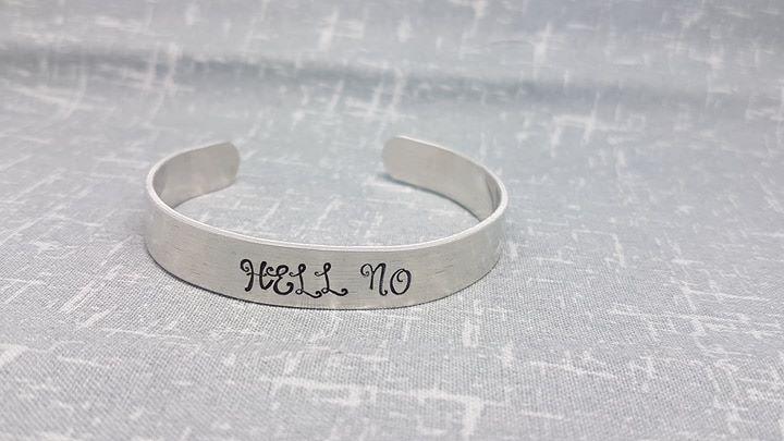 HELL NO Cuff Bracelet