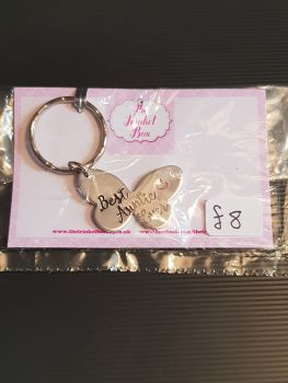 Best Auntie Ever - Butterfly Keyring