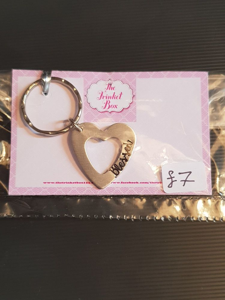 Blessed - Heart Washer Keyring