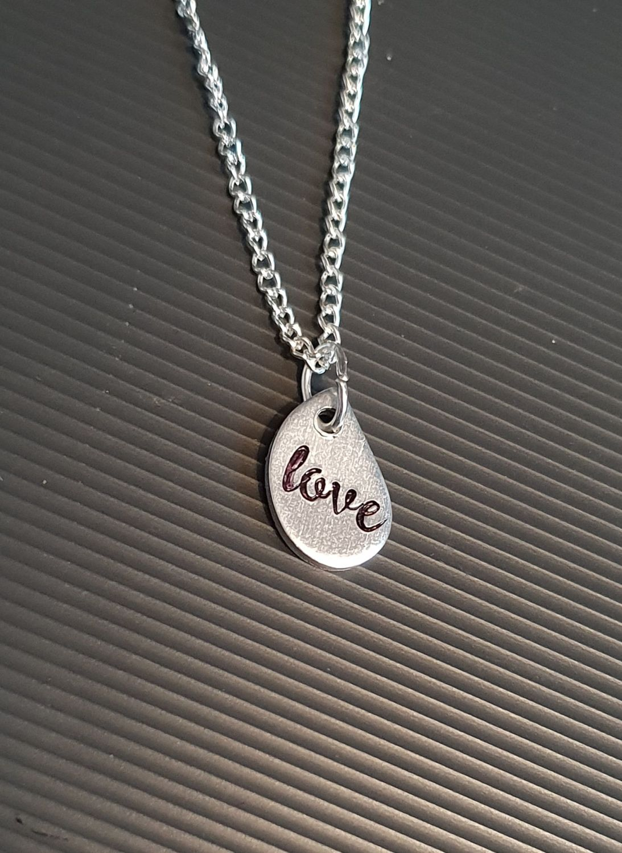 Love - Teardrop Necklace