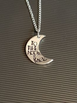 To The Moon Back - Necklace