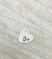 BSL Heart Initial Necklace