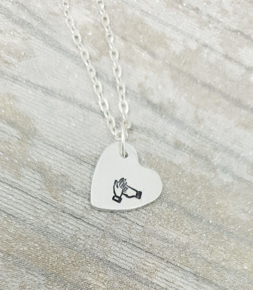 **NEW** BSL Heart Initial Necklace