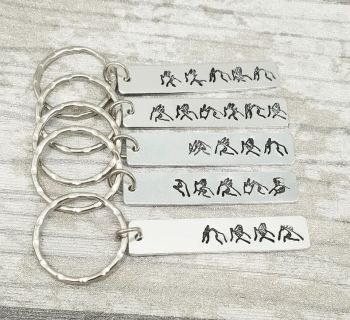 BSL Name Keyring - Long rectangle
