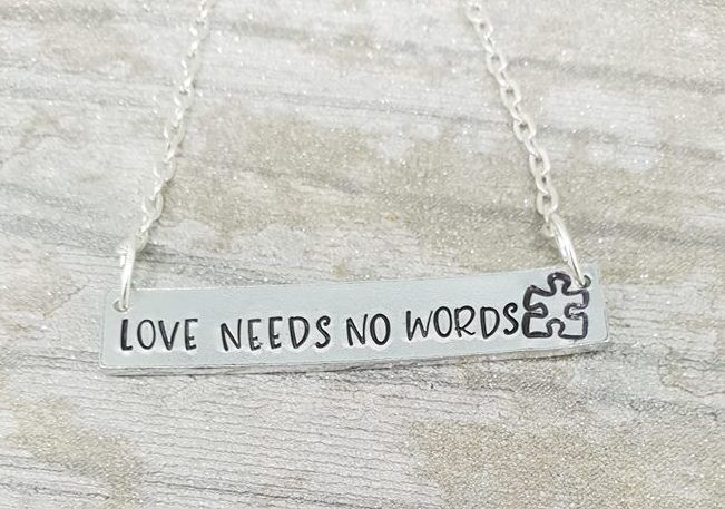 Love Need No Words - Banner Necklace