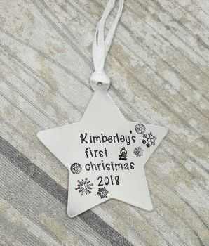 (name)'s First Christmas 2018 - Star Christmas Decoration