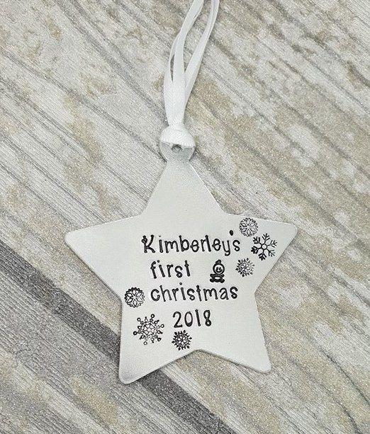 (name)'s First Christmas 2018 - Star Christmas Decoration