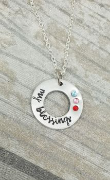 My Blessings Birthstone Necklace