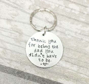 Step Dad Round Keyring