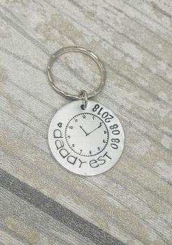 Clock - Daddy EST Keyring