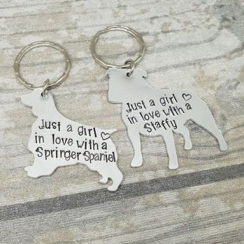 Just A Girl.. Dog Keyring - 30+ Breeds available