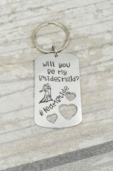 Will you be my bridesmaid? Keyring