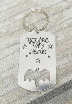 002 - You're my hero keyring