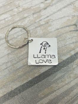 014 - Llama love keyring