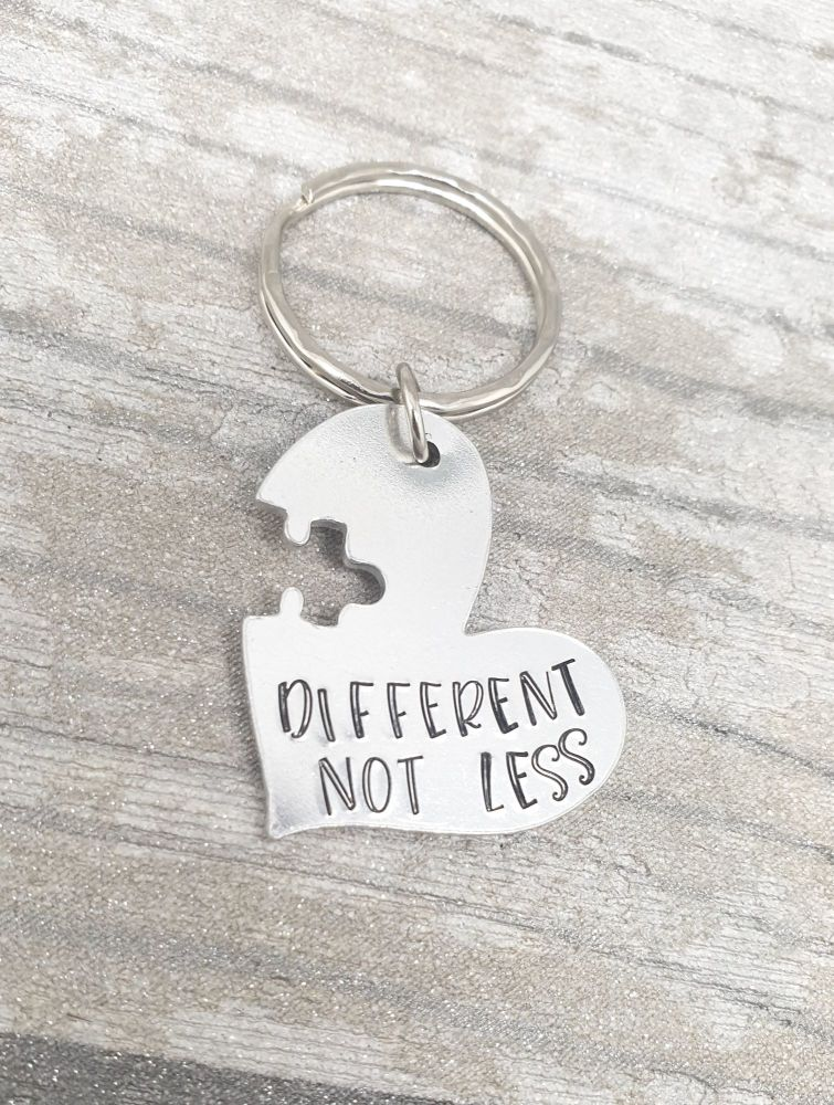 Different Not Less - Heart Keyring