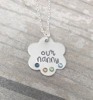 Flower Necklace with Birthstones - Perfect for Mummy/Nanny