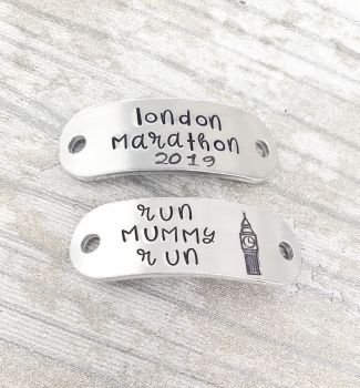 ** London Marathon 2019 - Run (name) Run - Trainer Tags
