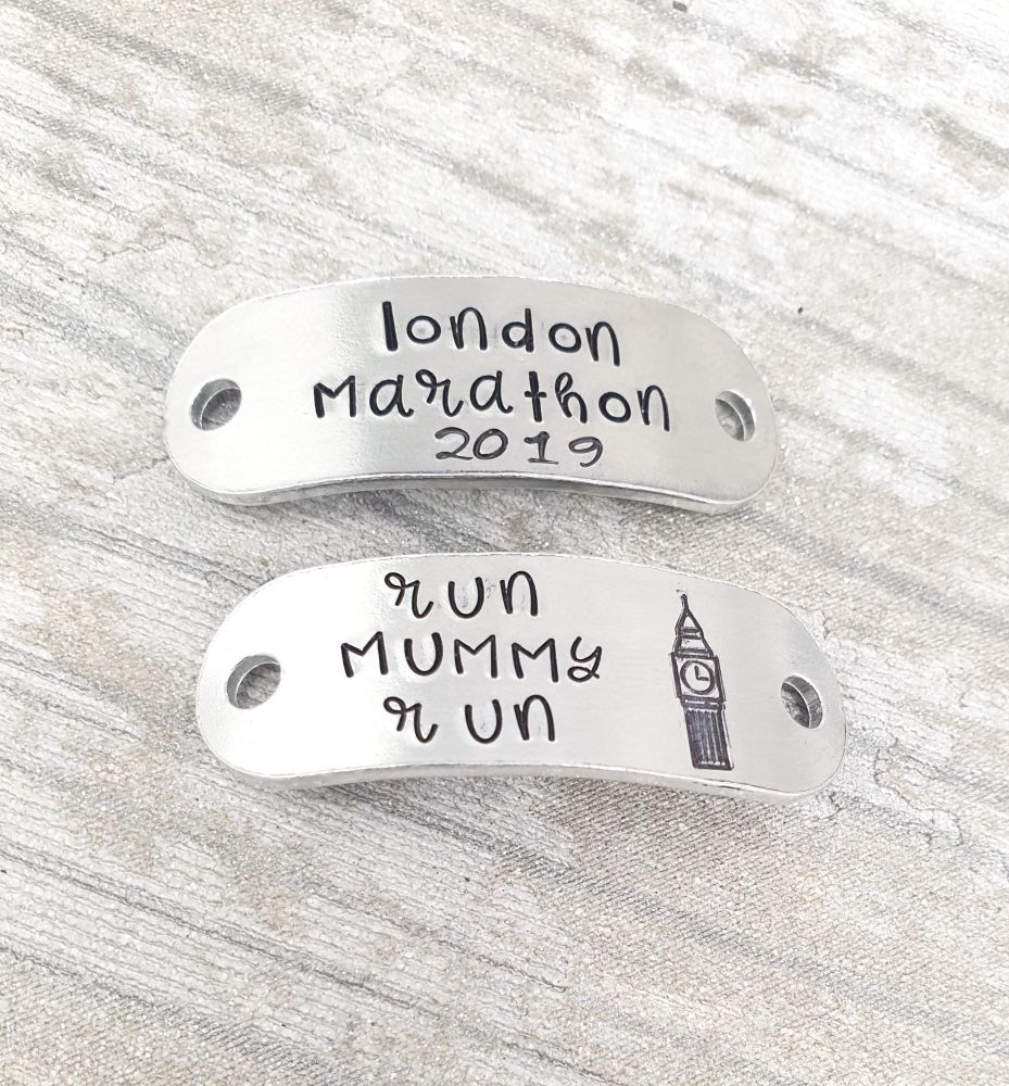 London Marathon 2019 - Run (name) Run - Trainer Tags